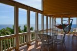 Enjoy garden views from the main deck also.